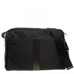 Tod's Black Nylon Pillow Tex Messenger Bag