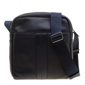 Tod's Navy Blue Leather Pillow Reporter Bag