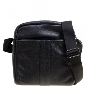 Tod's Black Leather Pillow Reporter Messenger Bag
