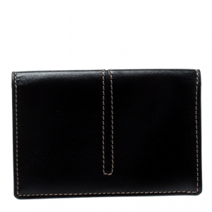 Tod's Black Leather Business Card Case