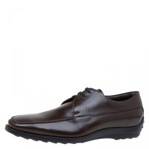 Tod's Brown Leather Lace Up Oxfords Size 40