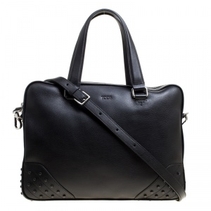 Tod's Black Leather Briefcase
