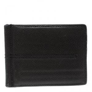 Tod's Dark Grey Leather Money Clip Wallet