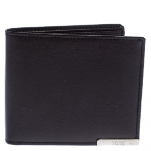 Tod's Brown Leather Bifold Wallet
