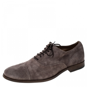 Tod's Grey Suede Lace Up Oxfords Size 42