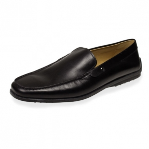 Tod's Black Leather Loafers Size 46