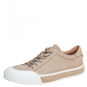 Tod's Beige Nubuck Leather Low Top Sneakers Size 41