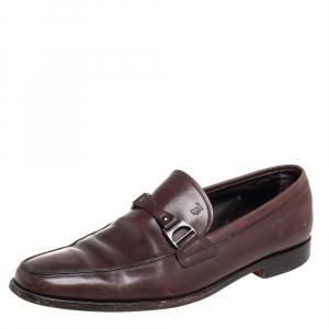 حذاء لوفز سليب أون تودز جلد بني مقاس 43