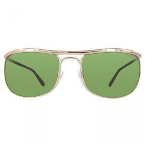 Tom Ford Shiny Rose Gold/Green FT0418 Square Sunglasses