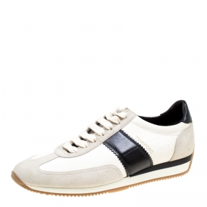 Tom Ford Tricolor Canvas And Suede Orford Sneakers Size 41.5