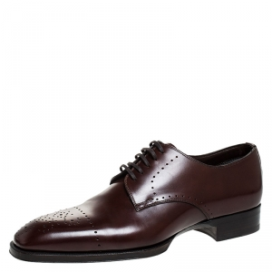 Tom Ford Brown Leather Lace Up Oxfords Size 42.5