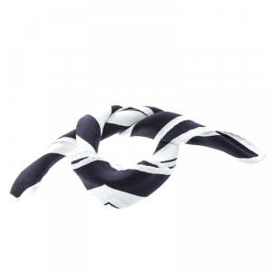 Tom Ford White and Blue Circular Geometric Print Pocket Square