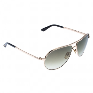 Tom Ford Rose Gold/Green Gradient Marko TF144 Aviator Sunglasses