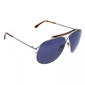 Tom Ford Black/Silver TF 193 Magnus Aviator Sunglasses
