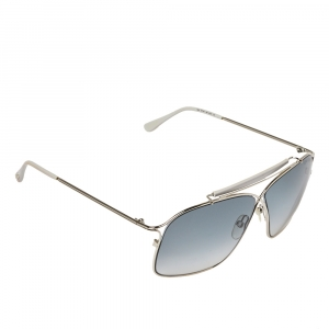 Tom Ford Silver / Blue Gradient TF194 Felix Crossover Aviator Sunglasses