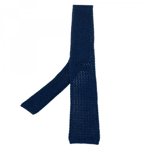 Tom Ford Royal Blue Silk Knit Dégradé Tie
