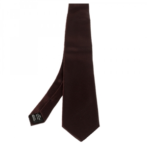 Tom Ford Burgundy Jacquard Silk Tie