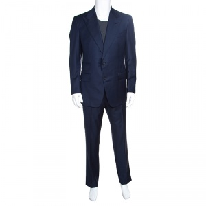 Tom Ford Navy Blue Wool Windsor Tailored Suit XL