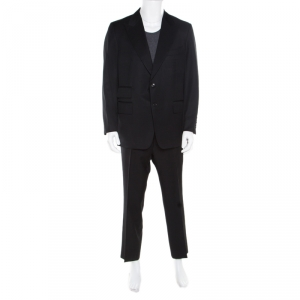 Tom Ford Black Wool and Mohair Tailored Suit XXL