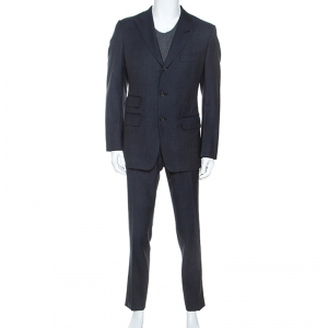 Tom Ford Navy Blue Wool Tailored Suit L