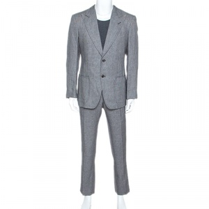 Tom Ford Monochrome Linen Blend Two Buttoned Suit L
