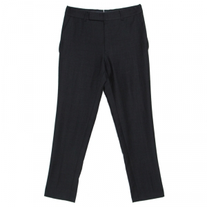 Tom Ford Charcoal Grey Wool Slim Fit Trousers S