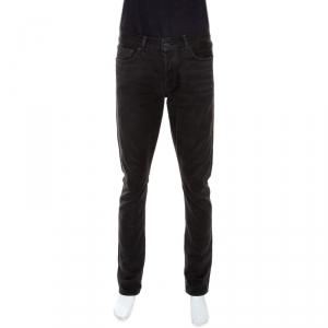 Tom Ford Dark Grey Corduroy Finish Cotton Slim Fit Trousers L