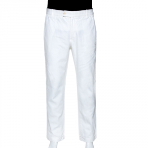 Tom Ford White Cotton Blend Regular Fit Trousers XXL