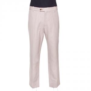 Tom Ford Beige Cotton Blend Regular Fit Trousers XXL