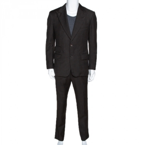 Tom Ford Dark Brown Wool Regular Fit Suit L