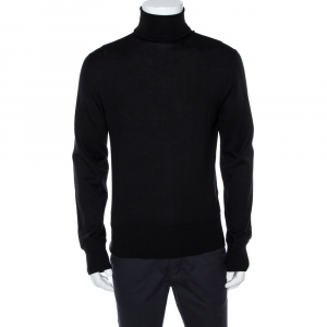 Tom Ford Black Cashmere Turtle Neck Sweater XXL