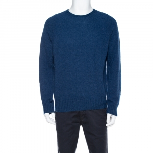 Tom Ford Avio Blue Cashmere Crew Neck Sweater XL