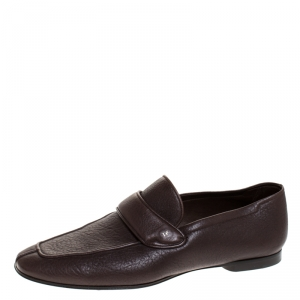 Tom Ford Dark Brown Soft Leather Loafers Size 43