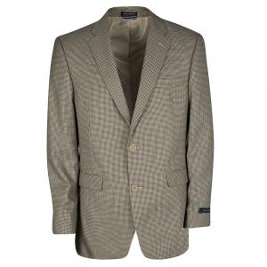 Tommy Hilfiger Brown Houndstooth Pattern Regular Fit Tailored Blazer L