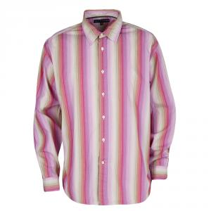 Tommy Hilfiger Multicolor Striped Cotton Long Sleeve Button Front Shirt XL - used