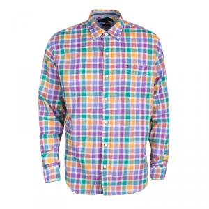 Tommy Hilfiger Multicolor Checked Cotton Long Sleeve Vintage Fit Shirt XL - used