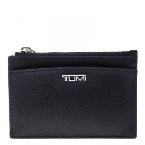 Tumi Black Leather Sinclair SLG Slim Card Case