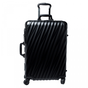 TUMI Silver Aluminum 4 Wheel Short Trip Packing Case 19 Degrees Luggage 65
