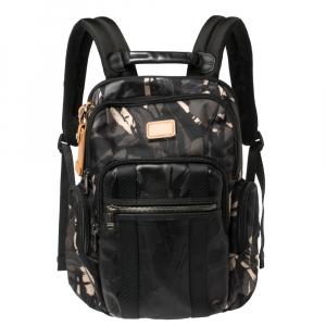 TUMI Camouflage Nylon and Leather Alpha Bravo Nellis Backpack