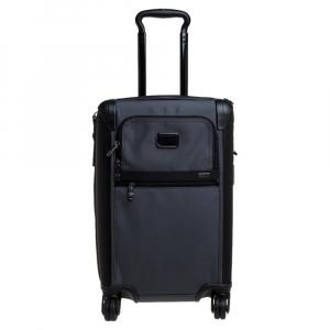 Tumi Grey/Black Nylon Alpha 2 International Expandable 4 Wheel Carry On Luggage