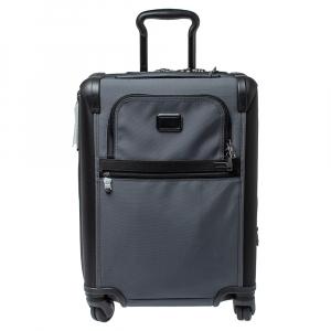 Tumi Grey/Black Nylon Alpha 2 Continental Expandable 4 Wheel Carry On Luggage