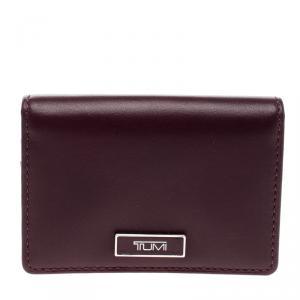 Tumi Burgundy Leather Card Case