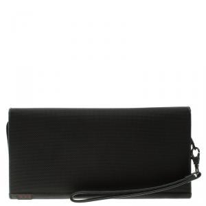Tumi Black Nylon Zip Around Travel Organizer Wallet