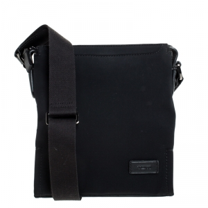 Tumi Black Nylon Messenger Bag