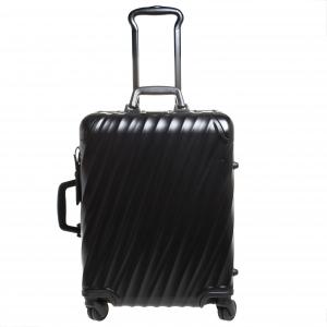 حقيبة سفر تومي شورت تريب باكينغ كايس 19 ديغريس 4 عجلات ألومنيوم أسود 55
