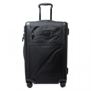 TUMI Black Nylon 4 Wheel Alpha II Short Trip Expandable Packing Case Luggage