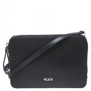 Tumi Black Leather Crossbody Bag
