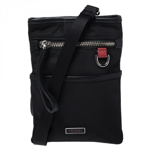 Tumi Black Nylon and Leather Crossbody Bag