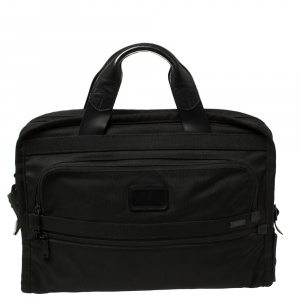 Tumi Black Nylon Alpha Slim Portfolio Laptop Bag