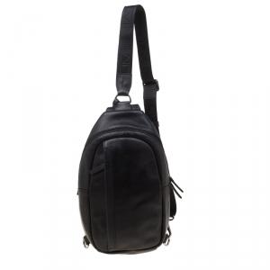 Tumi Black Leather Murano Sling Backpack